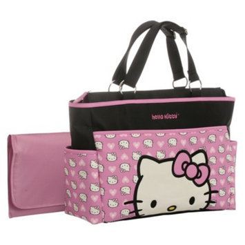 Hello Kitty Diaper Bag Tote - Black/Pink