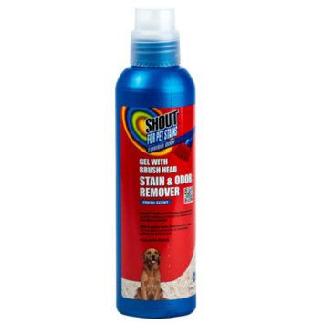 Shout Turbo Oxy Fresh Scent Gel with Brush Head Pet Stain & Odor Remover