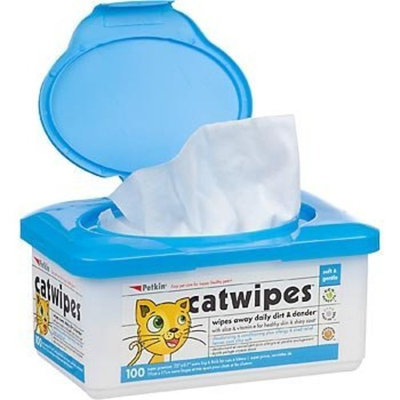 Petkin Deodorizing and Conditioning Wipes For Cats and Kittens