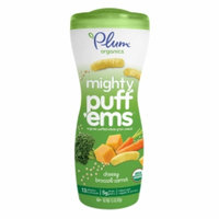 Plum Organics Mighty Puff'ems, Cheesy Broccoli Carrot, 1.5 oz