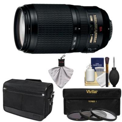 Nikon 70-300mm f/4.5-5.6 G VR AF-S ED-IF Zoom-Nikkor Lens with Shoulder Bag + 3 UV/CPL/ND8 Filters + Kit for D3200, D3300, D5200, D5300, D7000, D7100, D610, D800, D810, D4s DSLR Cameras