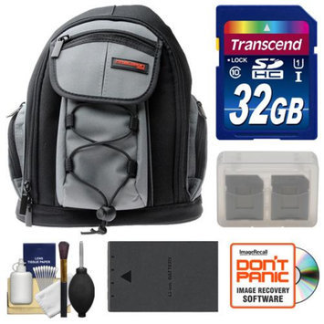 Precision Design PD-MBP ILC Digital Camera Mini Sling Backpack with 32GB Card + BLS-1/BLS-5 Battery + Accessory Kit for Olympus PEN E-P3, E-PL2, E-PL3, E-PL5, E-PM1 & E-PM2 Cameras