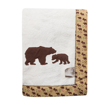 My Baby Sam Trend Lab Northwoods Framed Receiving Blanket With Bears Applique