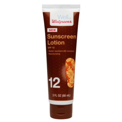 Walgreens Sunscreen Lotion, SPF 12, 3 oz