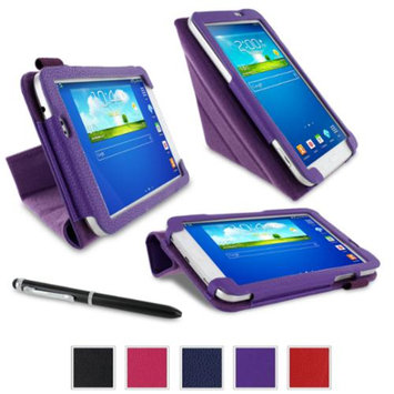 rooCASE Samsung Galaxy Tab 3 7.0 Case - Origami Stand Tablet Case - PURPLE