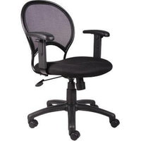 Boss Office Products Boss Mesh Chair With Adjustable Arms