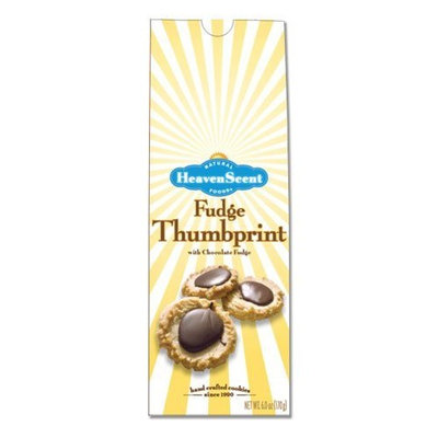 Heaven Scent Cookies, Fudge Thumbprint, 6-Ounce Packages (Pack of 6)