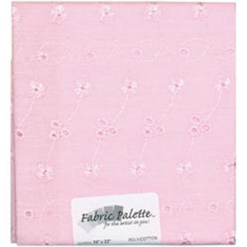Fabric Editions 148013 Novelty & Quilt Fabric Pre-Cut 100% Cotton 21 in. Wide .25yd-Pink Eyelet