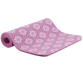 Fitness Equipment Manufacturing, Llc Empower Fitness 10mm Cushioned Mat w/Strap - Floral Print