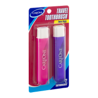 CareOne Travel Toothbrush Twin Pack - 2 CT
