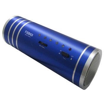 Naxa Electronics Naxa NAS3055BL Portable Tube Speaker With USB Fm Radio & Led Lights -blue