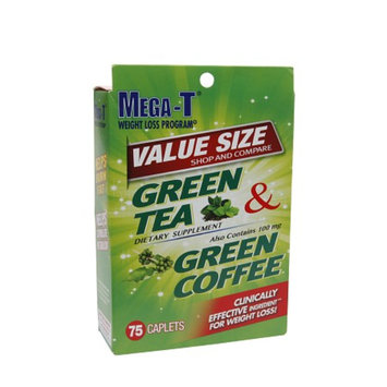 Mega-T Green Tea & Green Coffee, Value Size, Caplets