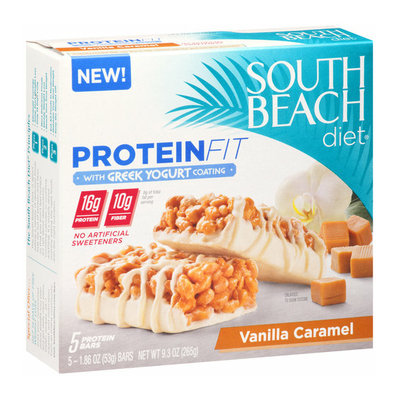 South Beach Diet Protein Fit Vanilla Caramel Protein Bars with Greek Yogurt Coating