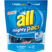 All Mighty Pacs 4X Concentrated Original Laundry Detergent