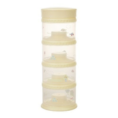 Innobaby Packin' smart Four Tier Travels Stack N Seal Food Storage System, Yellow (Discontinued by Manufacturer)