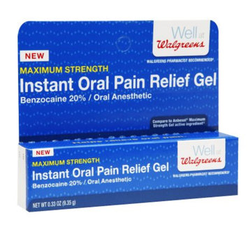 Walgreens Instant Oral Pain Relief Gel, .33 oz