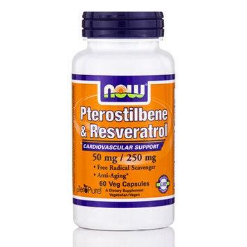NOW Foods Pterostilbene & Resveratrol 60 Veg Capsules - Vegan