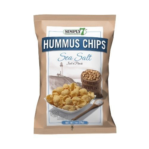Simply 7 Simply7 Hummus Chips, Sea Salt, 1-Ounce bags (Pack of 44)