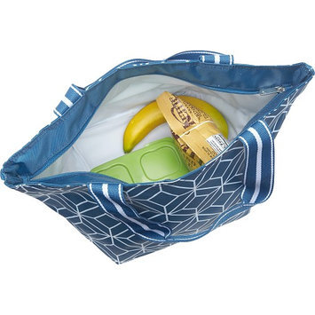 All For Color Blue Rattan Lunch Bag
