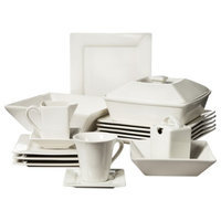 10 Strawberry Street Nova Square 42 Piece Dinnerware Set