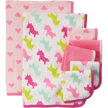 Child Of Mine By Carter's Child Of Mine Made By Carter's Newborn Baby Girl Washcloth And Towel Set, 7 Pack