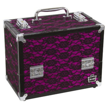 Caboodles Black with Pink Lace Cosmetic Case - 9.5''