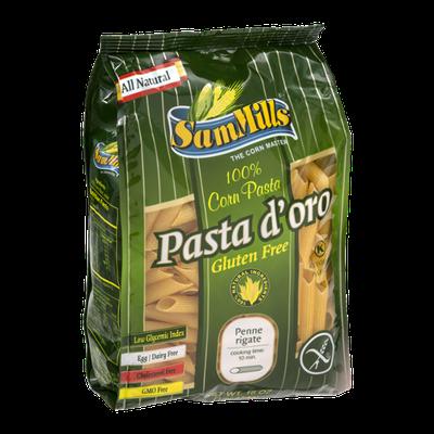 Sam Mills Pasta d'oro Corn Pasta Penne Rigate