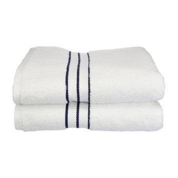 Simple Luxury Superior Hotel Collection 2 Piece Bath Towel Set (Set of 2), Navy Blue