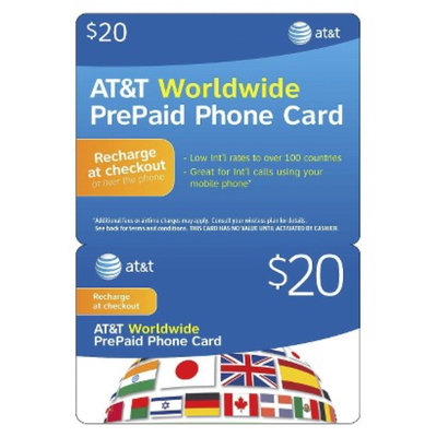 AT&T $20 Global Prepaid Phone Card