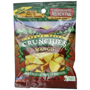 Crunchies Freeze-Dried Fruit Snack, Mango, 0.33-Ounce Munch Paks (Pack of 12)