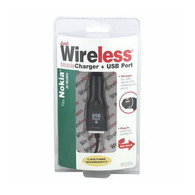 Just Wireless Nokia Mobile USB Charger - Black (03094)