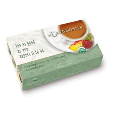 Davidson's Tea Davidson Organic Tea 220 Tulsi Spicy Green Tea Box of 100 Tea Bags