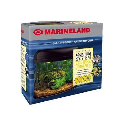 Marineland Eclipse Seamless Desktop Corner Aquarium, 5-Gallon