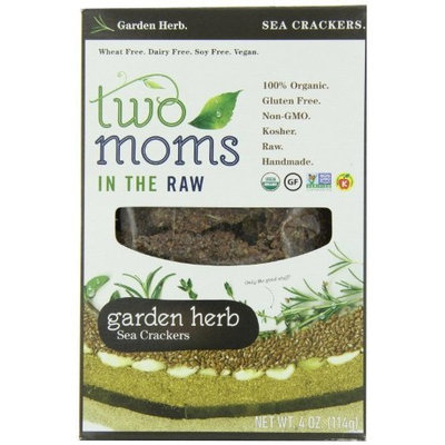 Two Moms in the Raw Garden Herb Season Gluten Free Crackers, 4-Ounce