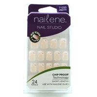 Nailene Chip Proof SHORT LENGTH -24 French Nails-PRETTY 71250