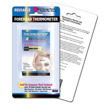 Hallcrest Thermostrip Reusable Forehead Thermometer Kit - 3 Kits