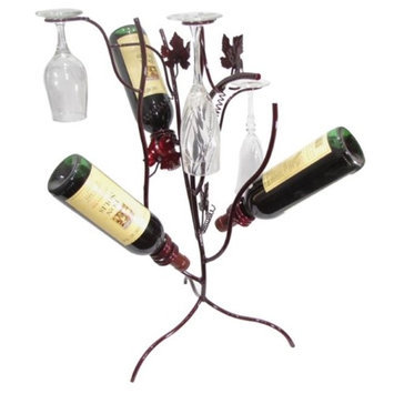 Metrotex Designs Stem Tree 3 Bottle Tabletop Wine Rack Finish: Merlot