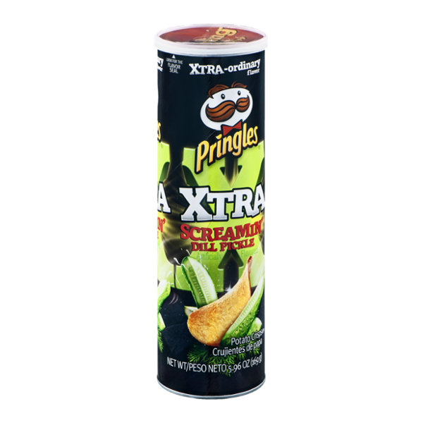 Pringles Xtra Potato Crisps Screamin' Dill Pickle