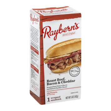 Raybern's Wrapped Sandwich Roasted Beef, Bacon & Cheddar