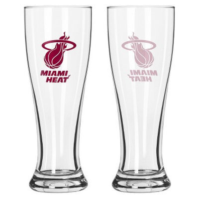 Boelter Brands NBA 2 Pack Miami Heat Pilsner - 16 oz