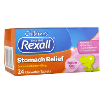 Rexall Children's Stomach Relief - Bubble Gum, 24 ct