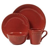 Threshold Barbury Earthenware 16 Piece Dinnerware Set - Red