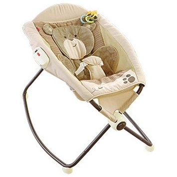 FISHER PRICE Fisher-Price My Little Snugabear Deluxe Rock n' Play Sleeper, Multi-Color