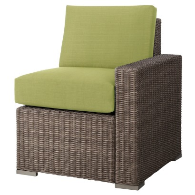 Outdoor Patio Furniture: Threshold Lime Green Wicker Sectional Left