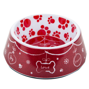 Top PawA Pet HolidayTM Love Dog Bowl