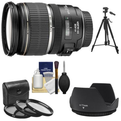 Canon EF-S 17-55mm f/2.8 IS USM Zoom Lens with 3 UV/CPL/ND8 Filters + Hood + Tripod + Kit for EOS 70D, Rebel T3, T3i, T4i, T5, T5i, SL1 DSLR Cameras