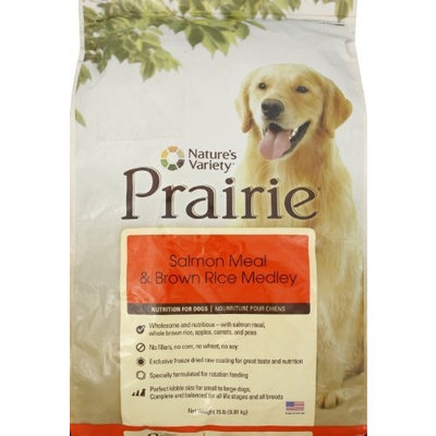 Prairie Salmon Meal & Brown Rice Medley Dry Dog Food by Nature's Variety, 15-Pound Bag