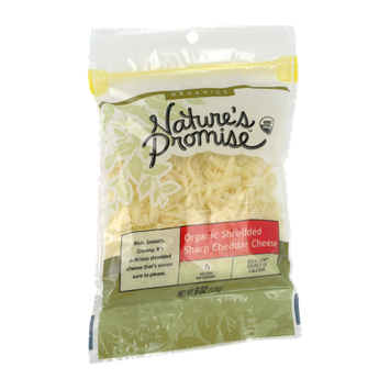 Nature's Promise Organics Organic Shredded Sharp Cheddar Cheese