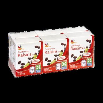 Ahold California Raisins - 6 CT