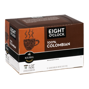 Eight O'Clock Keurig Brewed Coffee 100% Colombian Medium Roast - 12 CT